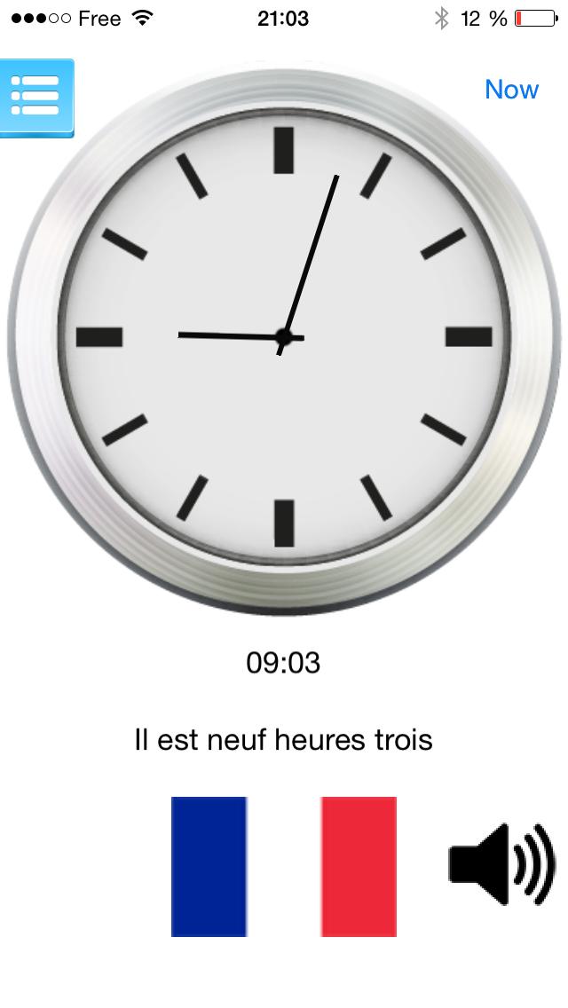 Télécharger Horloge parlante multilingue version gratuite