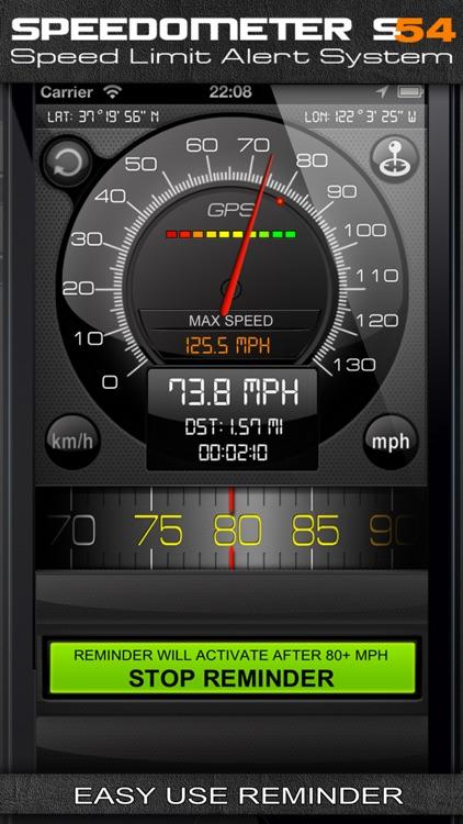 Speedometer s54 (Speed Limit Alert System)