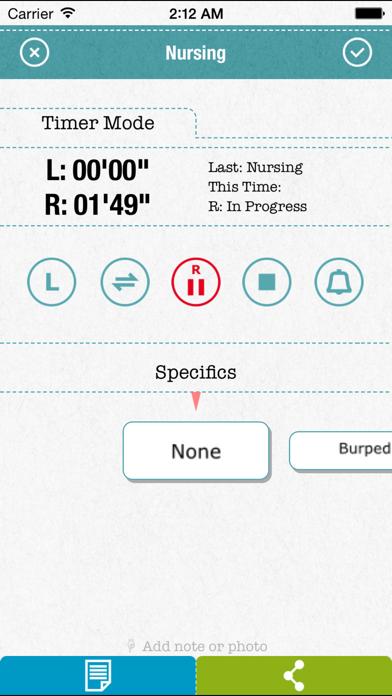 FirstYear - Baby feeding timer, sleep, diaper logScreenshot of 3