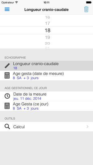 Calendrier Gestationnel.Age Gestationnel Dans L App Store