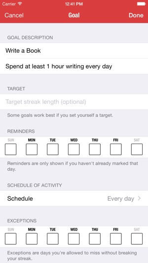 goal streaks daily goals habits tracker on the app store