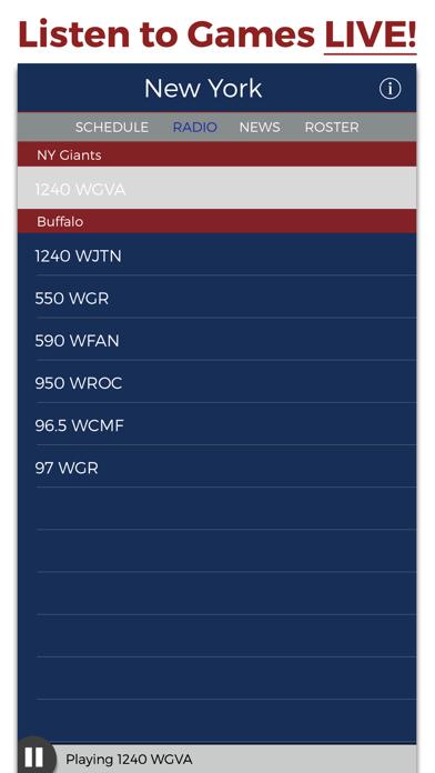 New York Football Radio & Live Scores screenshot one