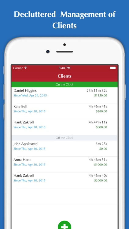 Time Tracker - Hours tracking, Timesheet, Invoice & Billing screenshot-3