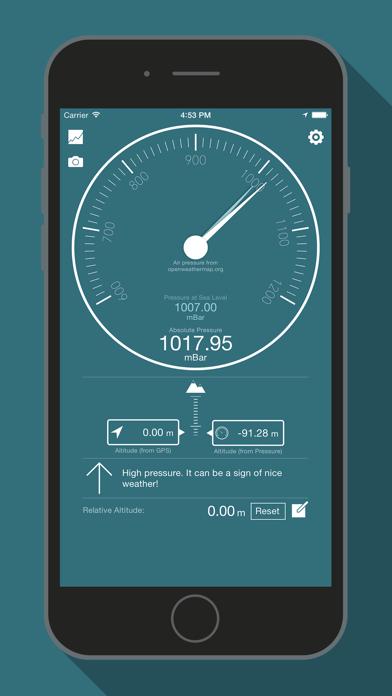 Bar-o-Meter - Altimeter & Barometer screenshot one