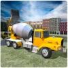 混凝土的挖掘机拖拉机 3D