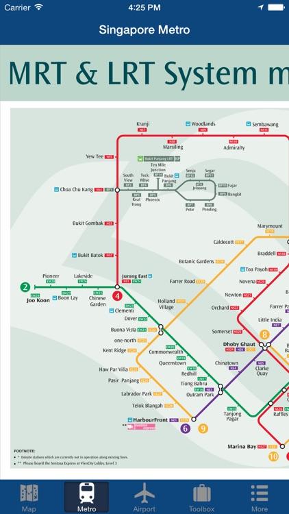 Singapore Offline Map - City Metro Airport