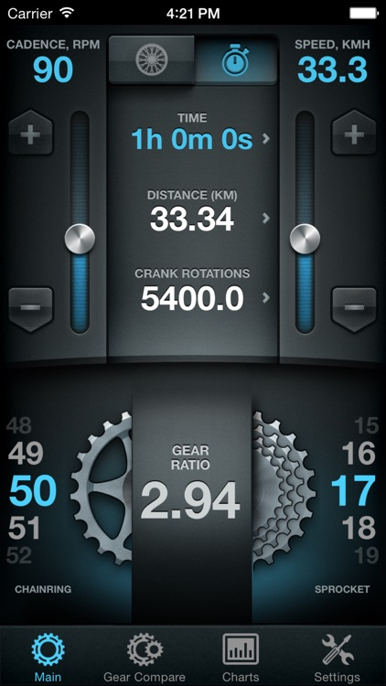 Bike Gear Calculator - Bike Gears, Cycling Gear Calculator, Bicycle Gear Calculator screenshot-0
