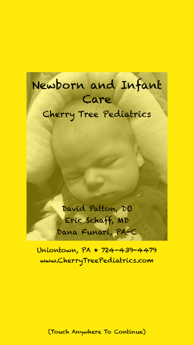 Newborn And Infant Care (Cherry Tree Pediatrics) screenshot one
