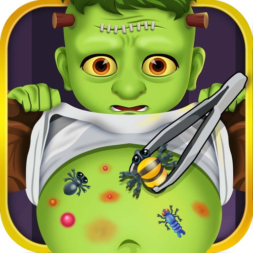 Stomach Injury Doctor Hospital - little surgery salon kids games for boys!