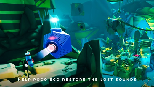 Adventures of Poco Eco - Lost Sounds: Experience Music and Animation Art in an Indie Game Screenshot