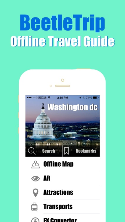 Washington DC travel guide and offline city map, Beetletrip Augmented Reality Washington D.C. Metro Train and Walks