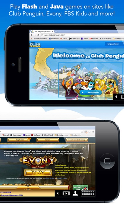 VirtualBrowser for Chrome™ with Flash-browser, Java Player & Extensions - iPhone Edition