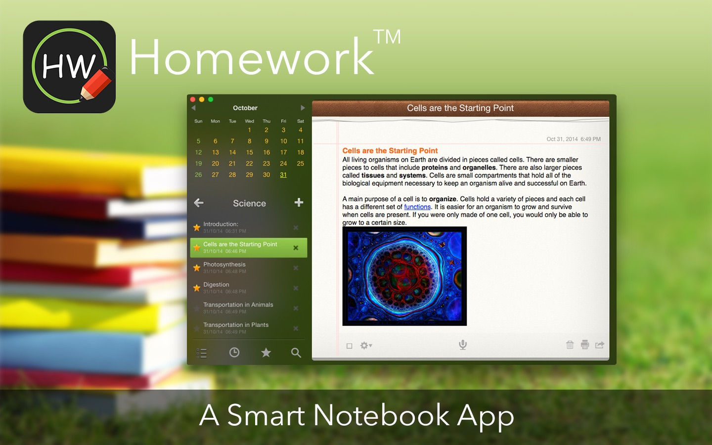 Homework™ on the MacAppStore