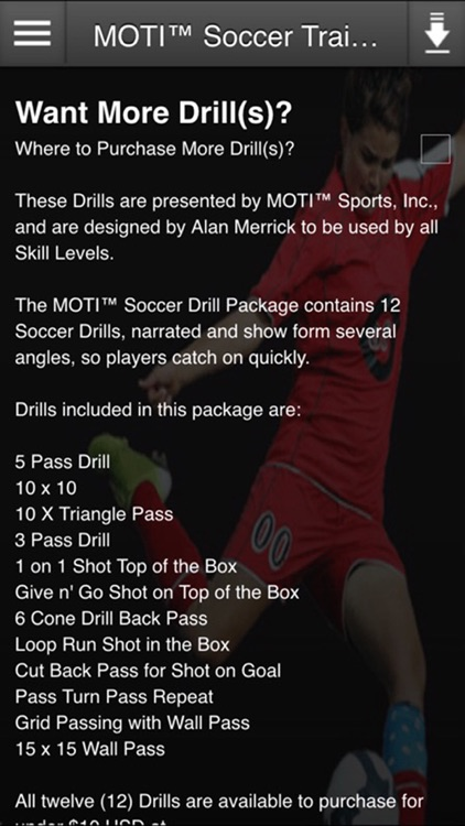 MOTI™ 3D Soccer Training Drill for Beginning Youth Soccer Players & New Coaches screenshot-1
