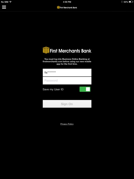 FMB Business for iPad