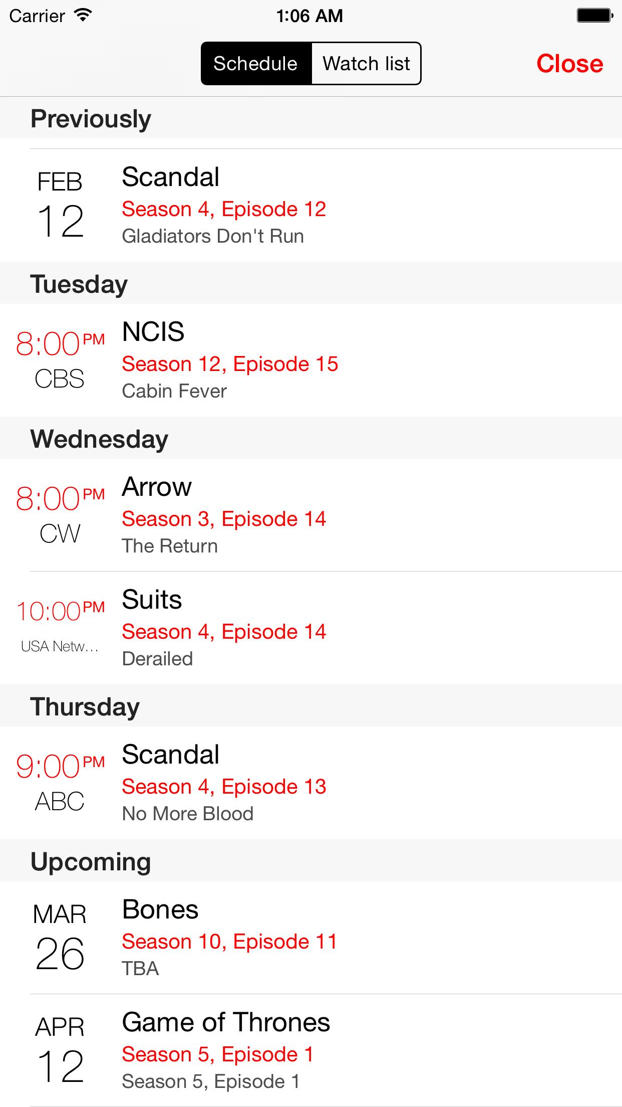 tv show tracker 3 Screenshot