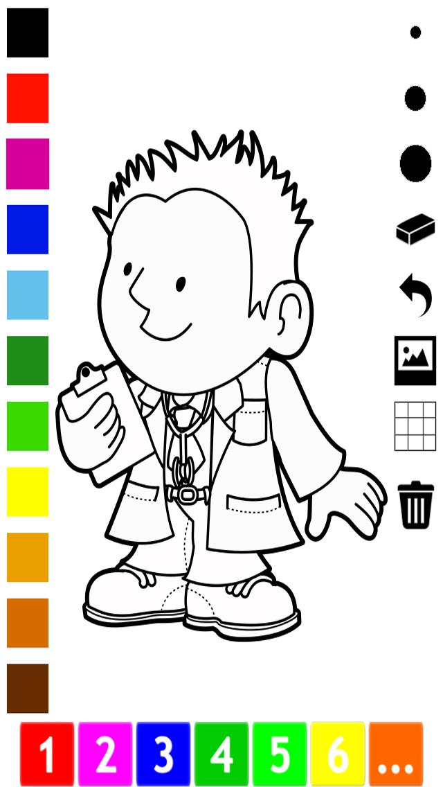 活動 圖畫書 的 職業 兒童: 學畫畫 與許多圖片屏幕截圖5
