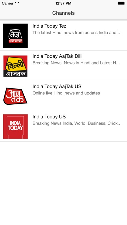 India Today Channels by Vidillion