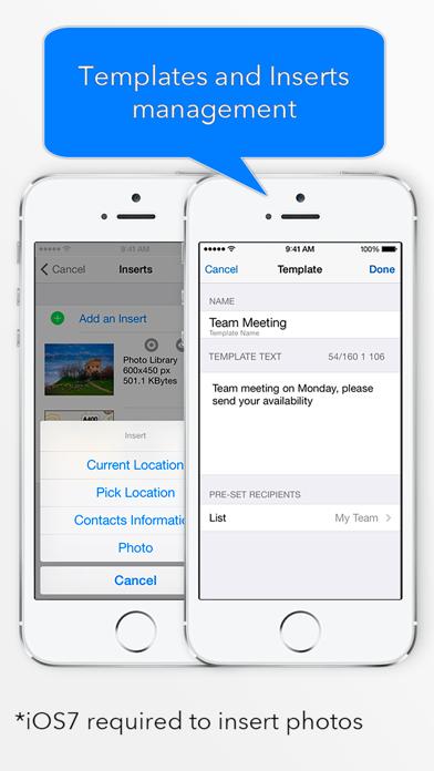 Group Text review screenshots