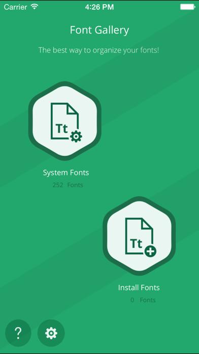 Fonts + screenshot one