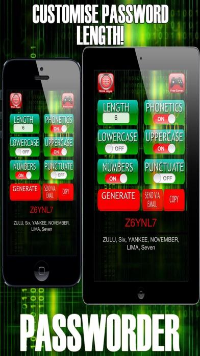 Passworder - Random Password & Keycode Generator screenshot four