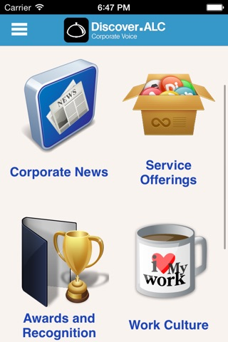 Screenshot of Discover.ALC Employee Engagement