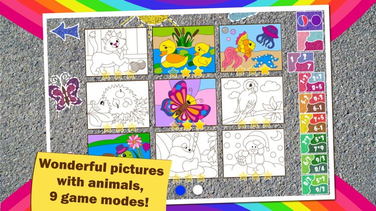 Colorful math Free «Animals» — Fun Coloring mathematics game for kids to training multiplication table, mental addition, subtraction and division skills! screenshot-3