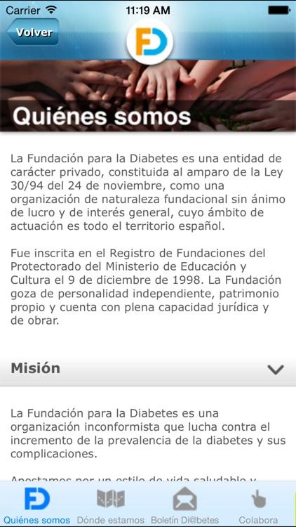 Fundación para la Diabetes screenshot-4