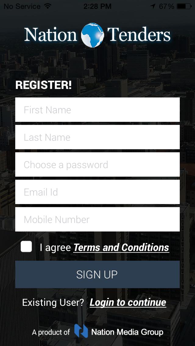 Nation Tenders screenshot two