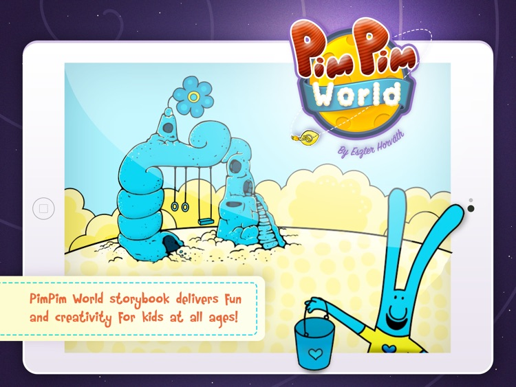 PimPim World: Blue Bunny on the Yellow Big Moon - an interactive storybook for kids
