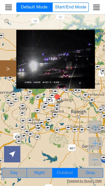 North Carolina/Charlotte Offline Map with Real Time Traffic Cameras Pro