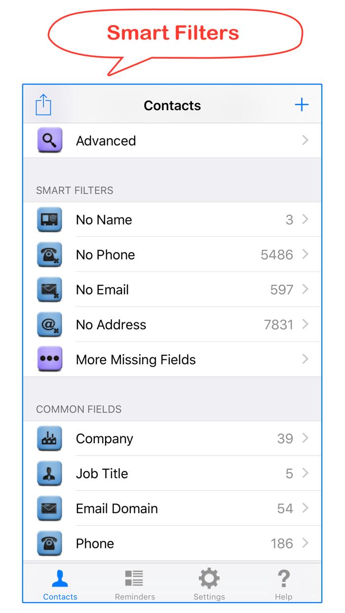 Delete Contacts+ Screenshot