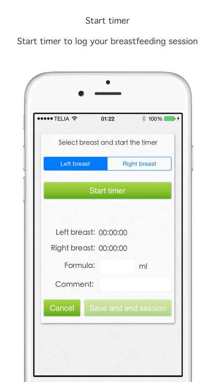 Breastfeed timer