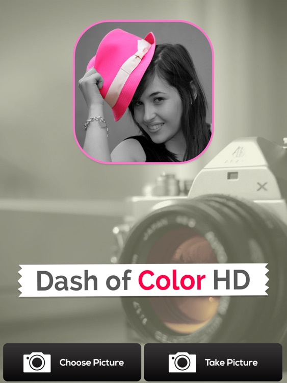 Dash of Color HD - Black & White, Colorful Photo Editor with Grayscale Effects