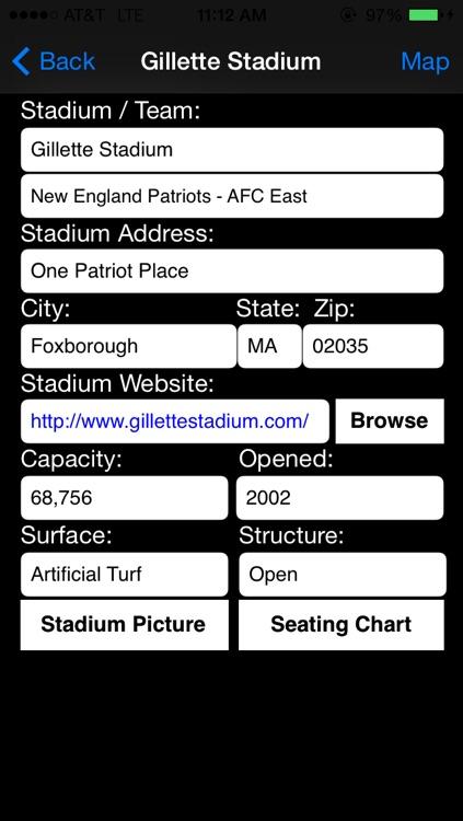 Pro Team Stadiums Football AFC NFC screenshot-3