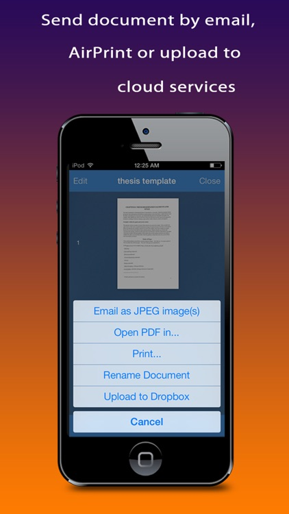 Quick Scanner : Quickly scan document, receipt, note, business card, image into high-quality PDF documents screenshot-3