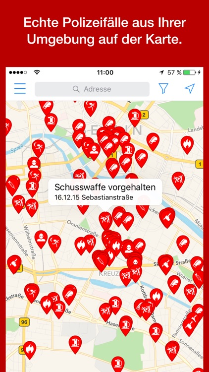 Verbrechen - echte Tatorte!
