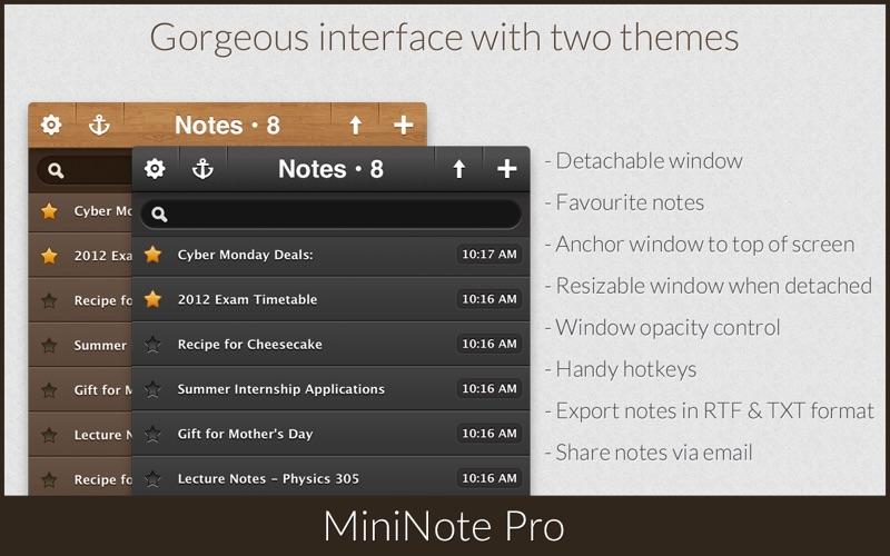 MiniNote Pro Screenshot 2