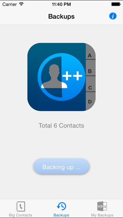 iContacts++ (Large Font, Easier Reading, Easy contacts backup)