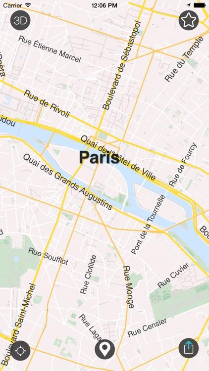 Paris - Offline Map & City Guide (w/metro!) screenshot-3