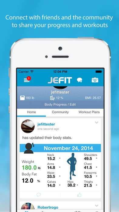 JEFIT PRO Workout - Fitness & Exercise Tracking System Screenshot
