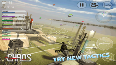 Screenshot from CHAOS Combat Copters HD -­ #1 Multiplayer Helicopter Simulator 3D