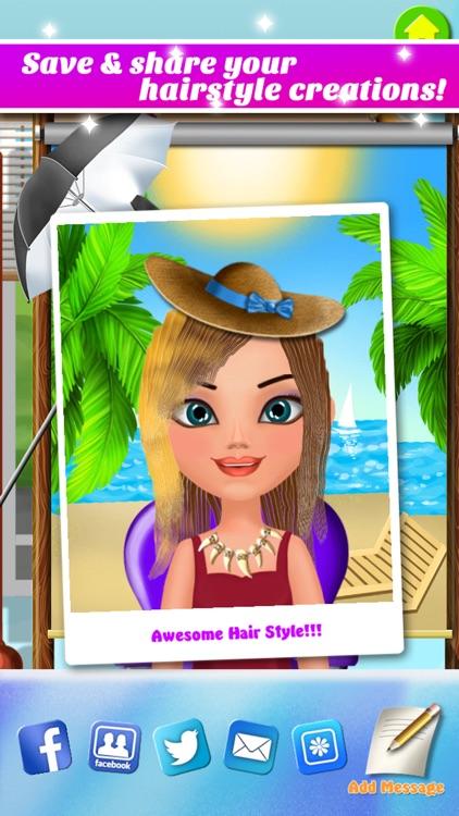 Hair Salon Makeover - Cut, Curl, Color, Style Hair screenshot-3