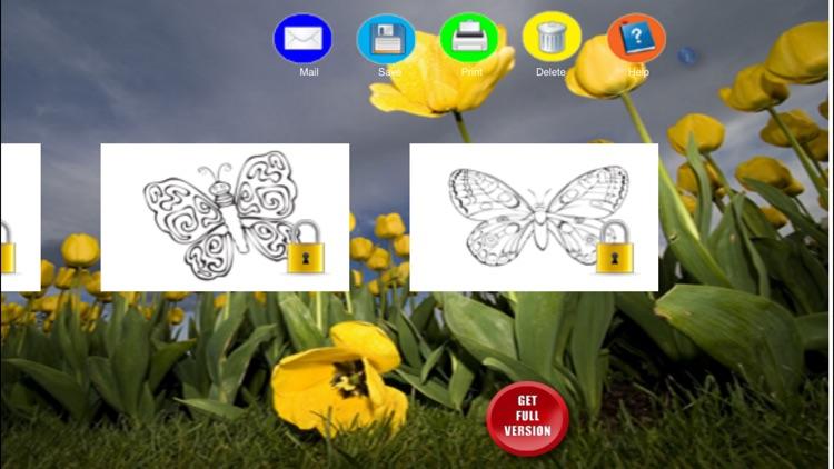Coloring Book Butterflies screenshot-3