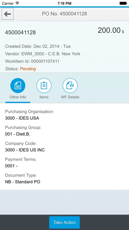 Unvired Workflow for SAP HTML5 screenshot-3