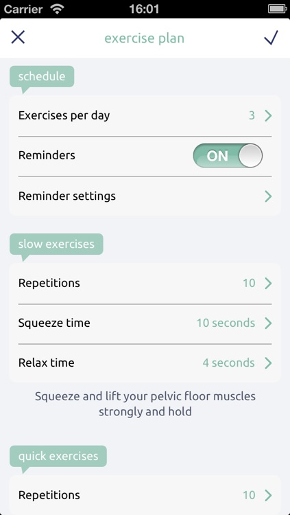 Squeezy - the NHS Physiotherapy App for Pelvic Floor Muscle Exercises
