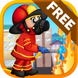 Fireman Rescue Rush - Run and jump over the fire!