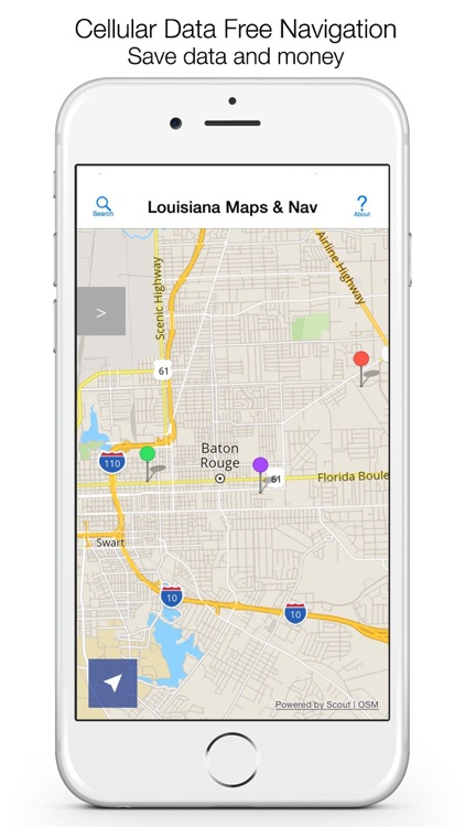 Louisiana Offline Maps & Offline Navigation screenshot-0