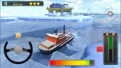 3D Icebreaker Parking - Arctic Boat Driving & Simulation Ship Racing Gamesのおすすめ画像5