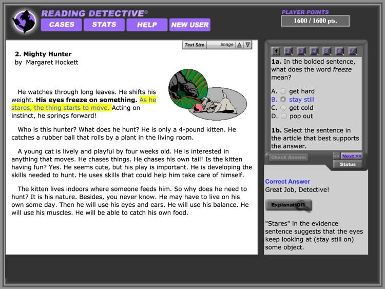 Reading Detective® Beginning screenshot-3